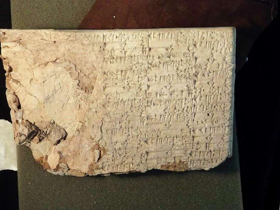The owners of Hobby Lobby have consented to return this cuneiform tablet and other artifacts smuggled from Iraq. The company also has promised to improve the way it collects antiquities. Photo: U.S. ATTORNEY FOR THE EASTERN DISTRICT OF NEW YORK, HO / U.S. ATTORNEY FOR THE EASTERN DISTRICT OF NEW YORK