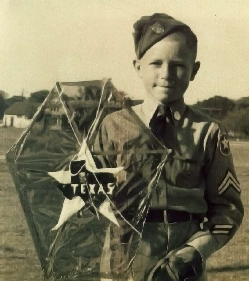 Junior Yanks of America member Jerome Weynand, 11, holds up his entry after winning the award for prettiest kite in the organization's annual kite contest at Lions Field in 1938. Photo: /COURTESY JEROME F. WEYNAND / JEROME F. WEYNAND