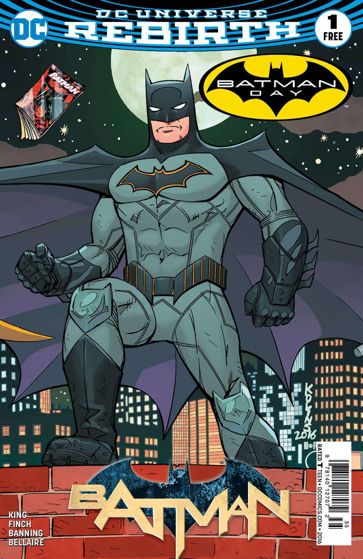 Created by Bob Kane, Batman got his start in the comic books.