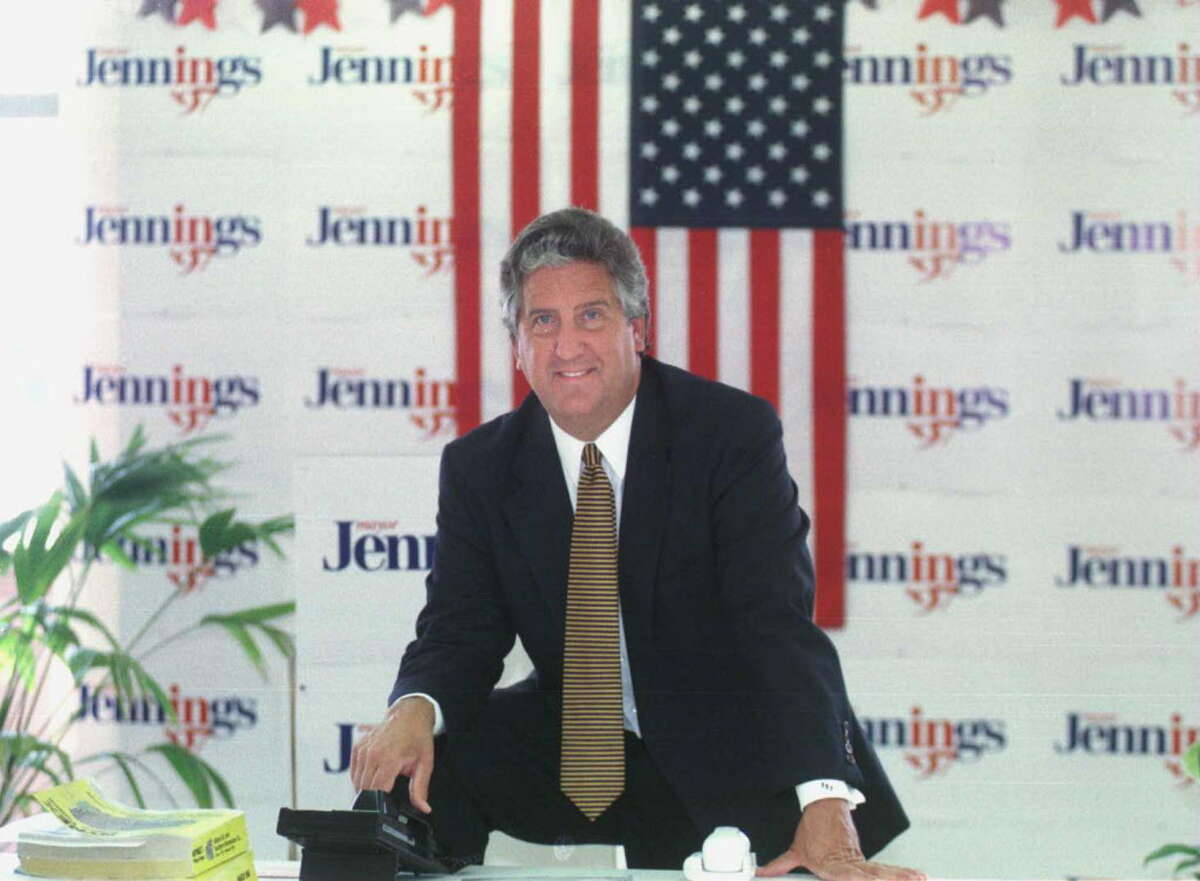 Times Union Staff photo by PAUL D. KNISKERN, SR.-7/3/97-ALBANY, N.Y.-MAYOR JERRY JENNINGS IN HIS CAMPAIGN HEADQUARTERS FOR PROFILE.