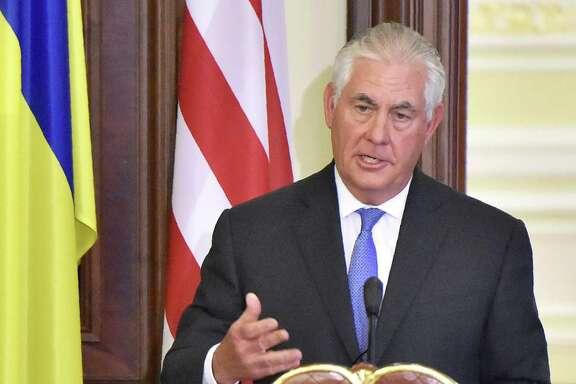 Secretary of State Rex Tillerson seemed to insist that Russia return Crimea to Ukraine.