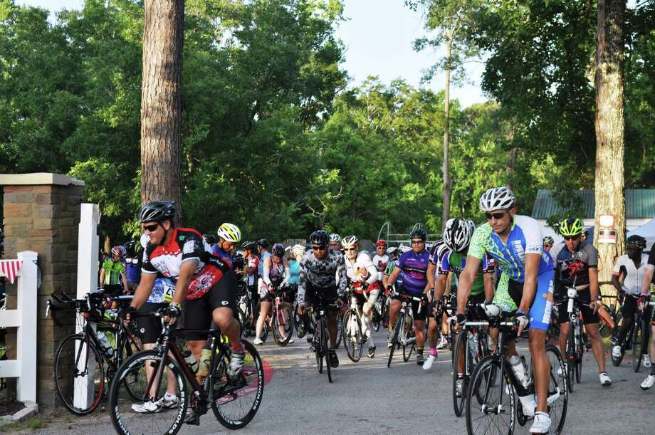 Riders are seen leaving Bridgewood Farms for The Burn Your Buns Bike Ride in 2016. 2017 marked the fourteenth year for the annual ride. Photo: Submitted Photo