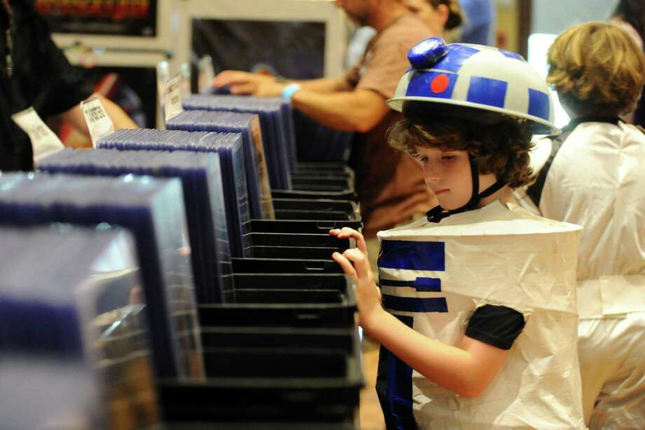 Owen Wyman dressed up as R2D2 for Lock City Comic Con last summer at the Italian Center of Stamford. The event this year will be held July 22 at the Sheraton hotel on East Main Street. Photo: Michael Cummo / Hearst Connecticut Media / Stamford Advocate