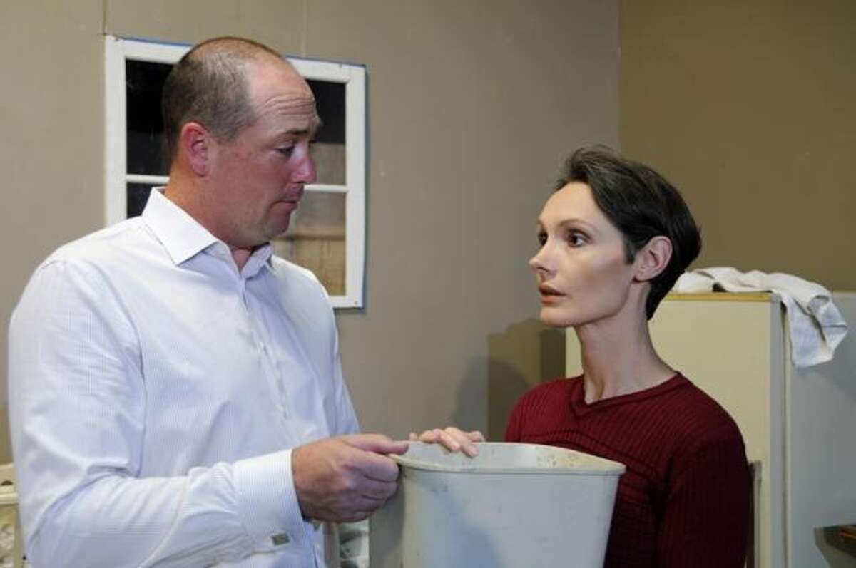 John Hack (left) and Lisa Garza star in Bulverde S.T.A.G.E.'s production of