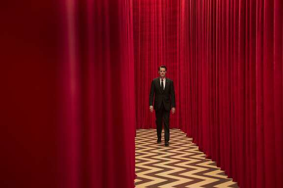 Kyle MacLachlan as FBI Special Agent Dale Cooper in the show's iconic red room in the new 'Twin Peaks' on Showtime.