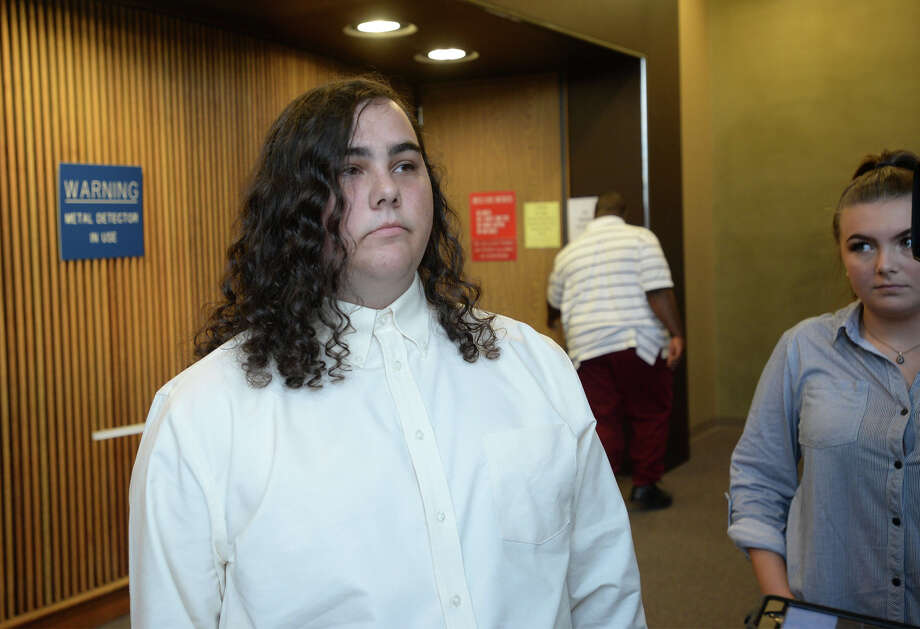 Triston Miller talks Monday at the Jefferson County Courthouse about the aftermath of allegedly making terroristic threats towards Port Neches-Groves High School earlier this year. Photo taken Monday, July 10, 2016 Guiseppe Barranco/The Enterprise Photo: Guiseppe Barranco, Photo Editor