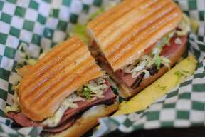 The Marcantile Café & Antiques at 1812 Blanco Road offers a few sandwiches, salads and breakfast items to fuel hungry shoppers.