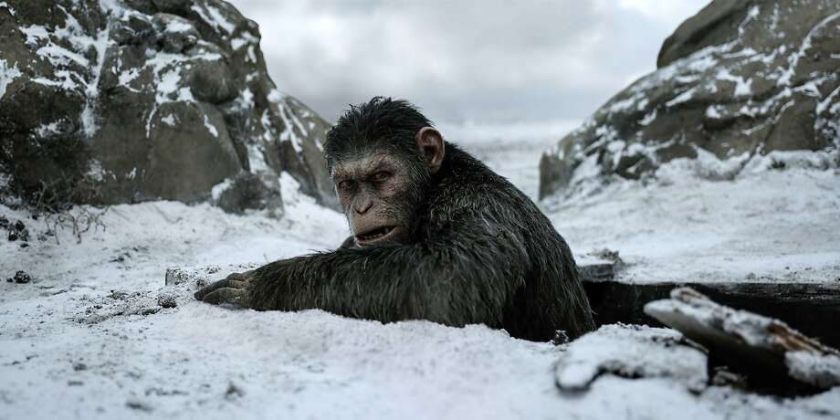 "Things look grim for both apes and humans despite peacemaking efforts in ""War for the Planet of the Apes."" Photo: Twentieth Century Fox, Associated Press"