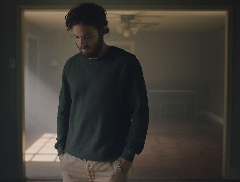 """This image released by A24 shows Casey Affleck in a scene from the film, """"A Ghost Story."""" (Bret Curry/A24 via AP) Photo: Bret Curry, Associated Press"""