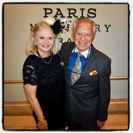 Heide Betz and photographer Ray Scotty Morris at the Legion of Honor for the Degas-Millinery exhibition. June 22,2017.