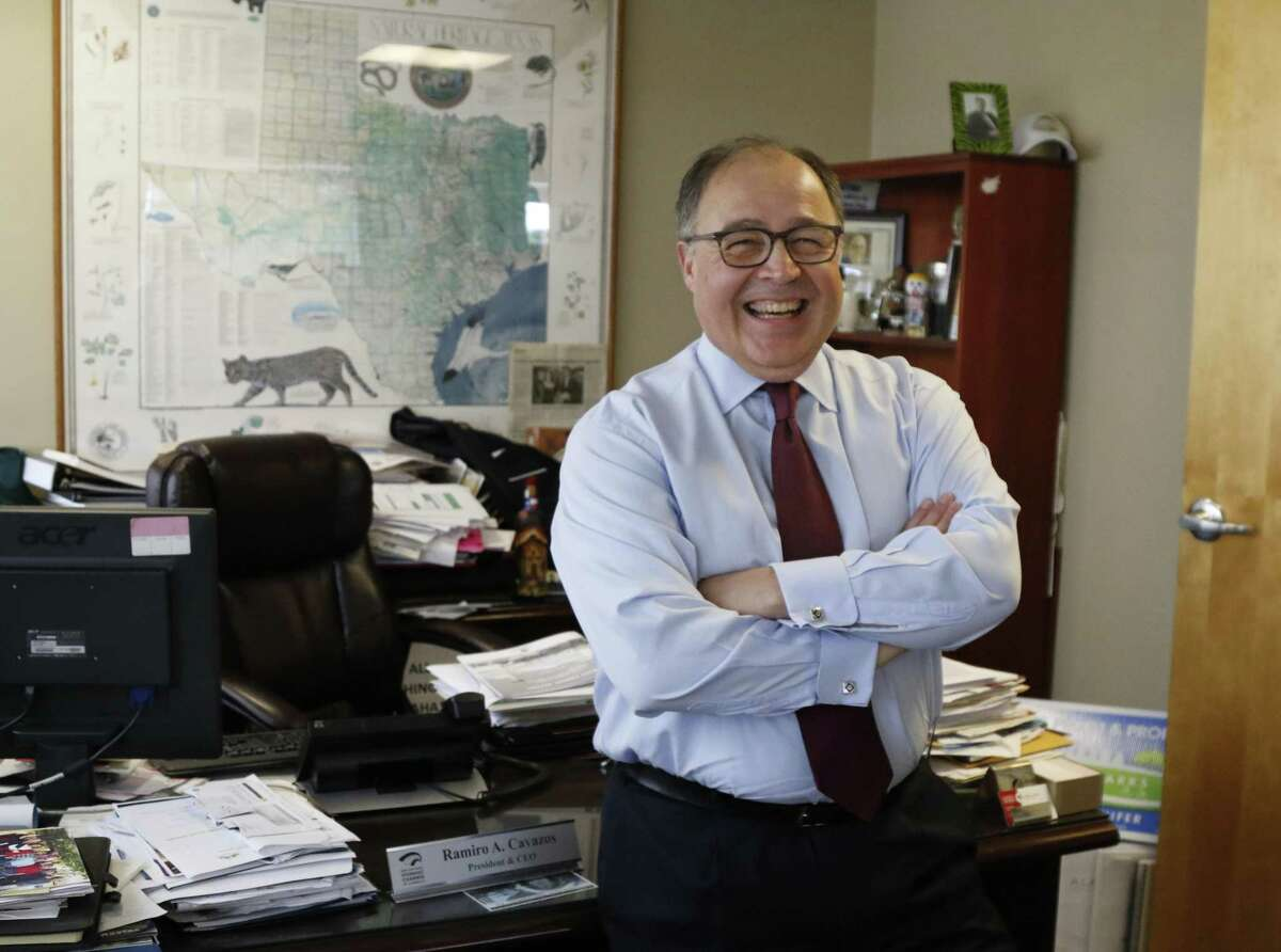 San Antonio Hispanic Chamber of Commerce CEO and President Ramiro Cavazos grew up in Weslaco, his first job sacking groceries.