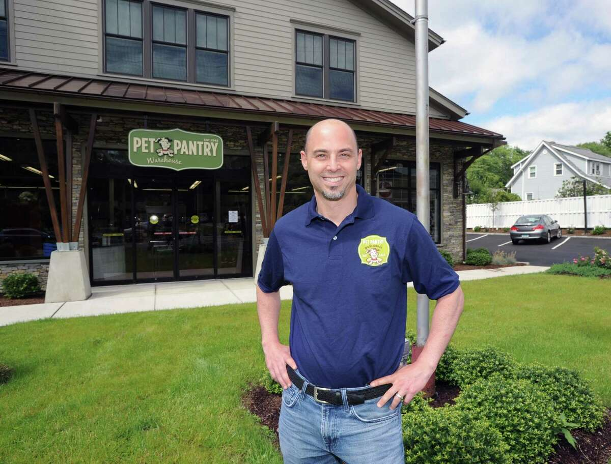 Adam Jacobson, the owner of Pet Pantry, at his company's newest location at 1191 E. Putnam Ave., in the Riverside section of Greenwich, Conn., Friday, July 7, 2017.