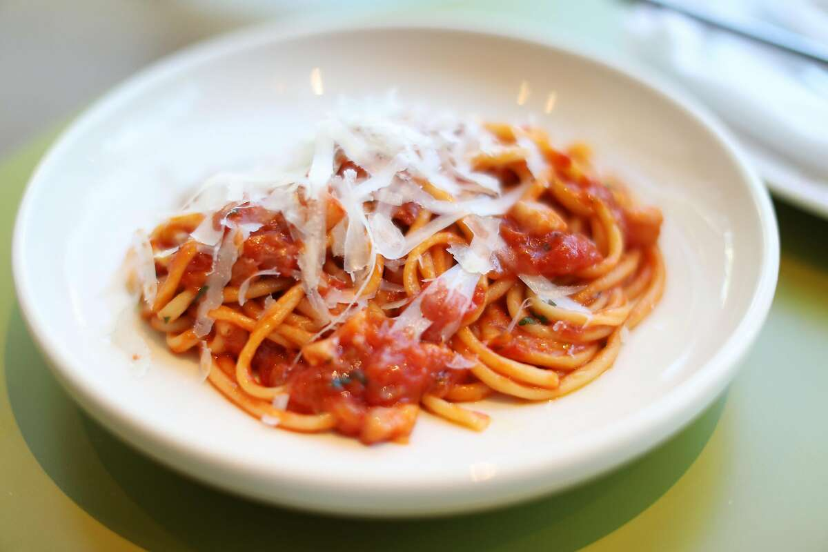 Bucatini all'Amatriciana at a Mano on Hayes Street in San Francisco, Calif.on Thursday, July 6, 2017.