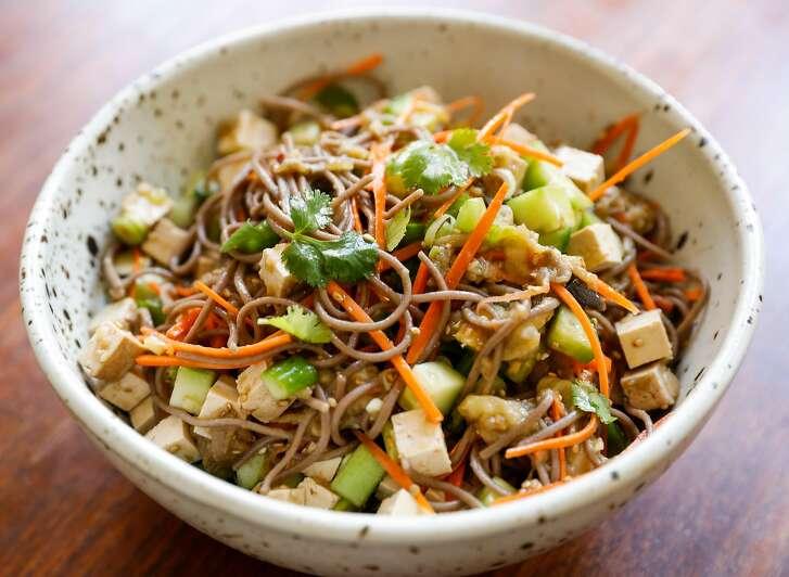Jessica Battilana's Soba Noodle, Tofu & Summer Vegetable Salad is seen on Wednesday, May 31, 2017 in San Francisco, Calif.