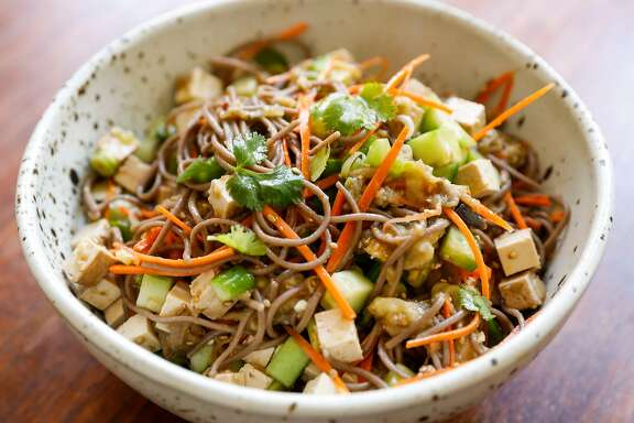 Jessica Battilana's Soba Noodle, Tofu & Summer Vegetable Salad is seen on Wednesday, May 31, 2017 in San Francisco, Calif.