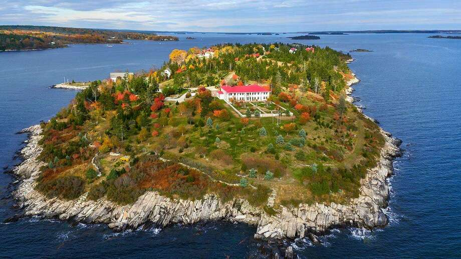 Hope Island in Maine is listed for $7.95 million. The 86 acre island features a 11,295-square-foot main house, as well as a horse barn, private chapel and a boat house. Click here to see the full listing. Photo: Contributed/ Christie's International Real Estate