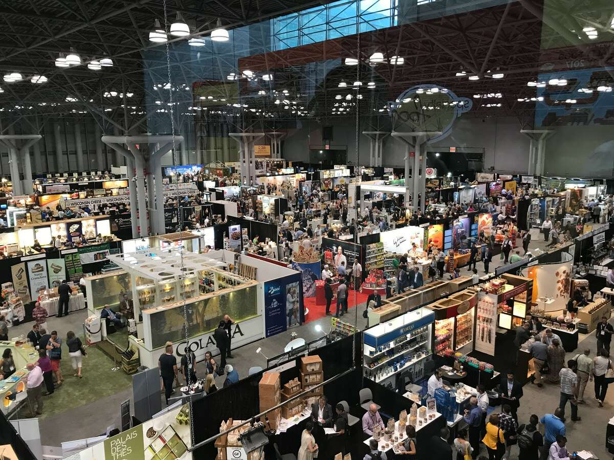 Overview of the exhibition floor at the 2017 Summer Fancy Food Show in New York.