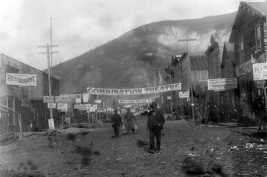 """A scene from """"Dawson City: Frozen Time,"""" about a town and its trove of preserved old movies. Photo: Kino Lorber"""