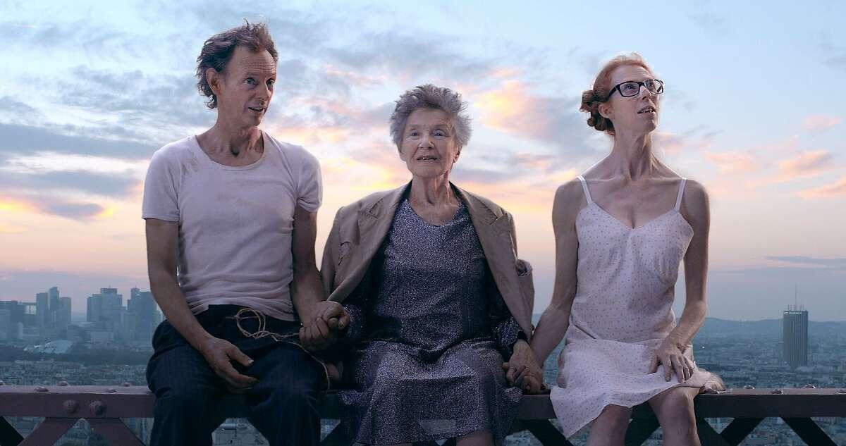 "Dominique Abel, Emmanuelle Riva and Fiona Gordon in ""Lost in Paris."""