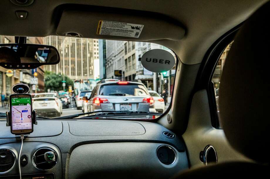In this file photo, an Uber car operates in San Francisco. The ride sharing company is launching in Laredo after a long wait on Wednesday. Photo: Christie Hemm Klok/New York Times