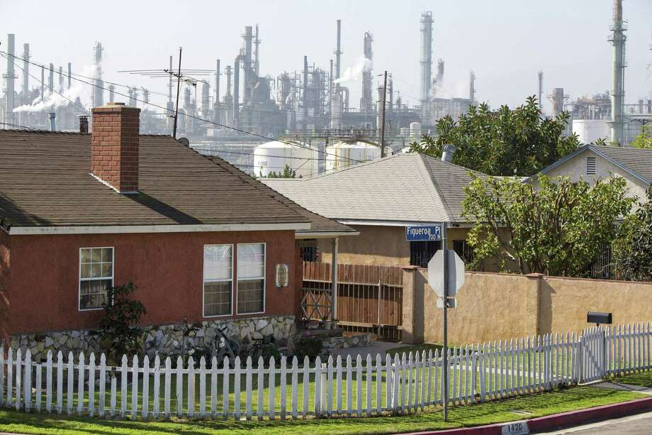 A refinery in Wilmington. Tesoro Corp. will combine two refineries it owns in Wilmington and Carson, California, into the largest refinery in The Golden State. Photo: MONICA ALMEIDA /New York Times / NYTNS