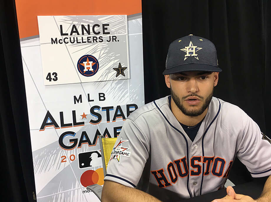 The Houston Astros' Lance McCullers speaks with the media during Gatorade All-Star Workout Day ahead of the 88th MLB All-Star Game at Marlins Park on July 10, 2017 in Miami, Fla. Photo: Jake Kaplan, Houston Chronicle