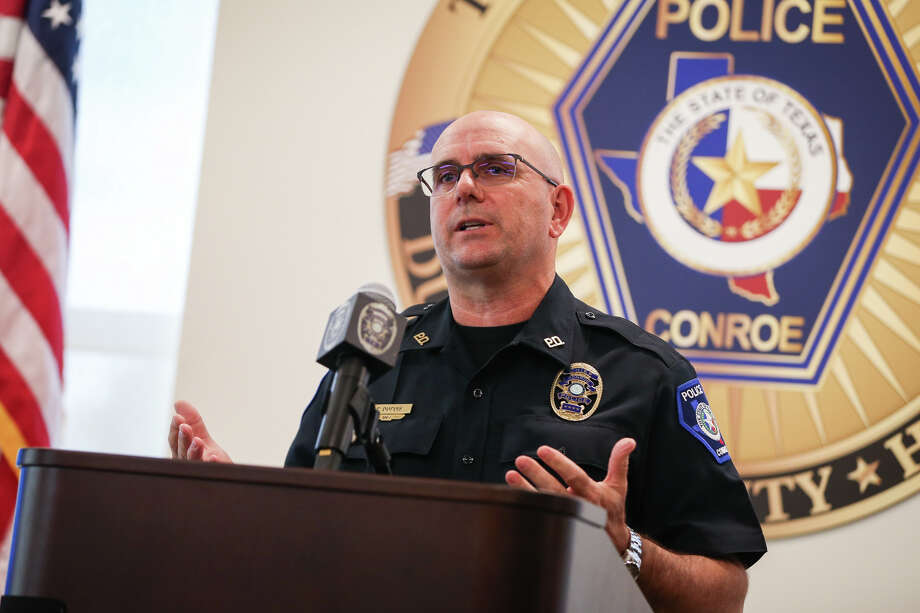 Conroe Police Chief Philip Dupuis speaks during a press conference on Monday, July 10, 2017, at the Conroe Police Station. Photo: Michael Minasi, Staff Photographer / © 2017 Houston Chronicle