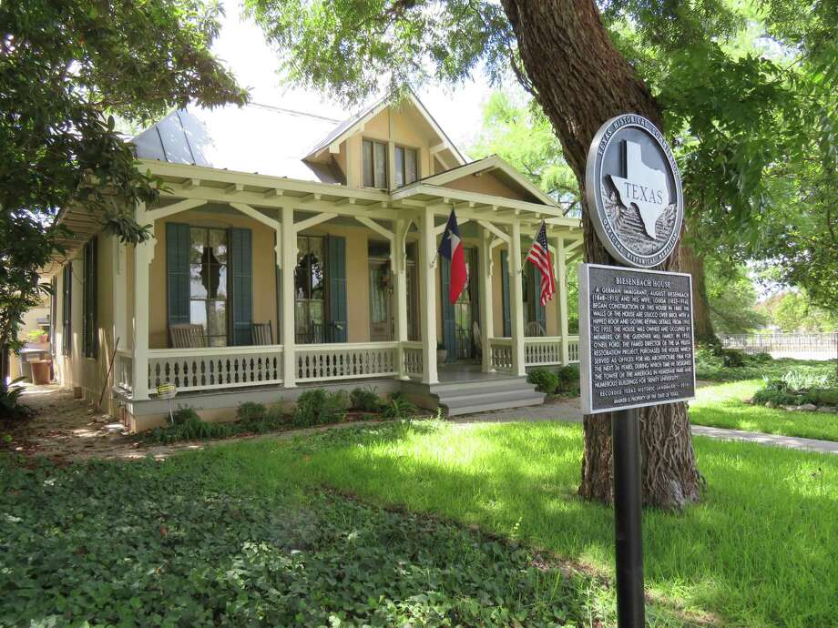 The Biesenbach House in King William is a Texas Historic Landmark that was built by German immigrants in the 1800s, once the home of members of the Guenther Mill family and later an office for famed architect O'Neil Ford. Photo: Terry Scott Bertling / San Antonio Express-News
