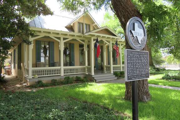 The Biesenbach House in King William is a Texas Historic Landmark that was built by German immigrants in the 1800s, once the home of members of the Guenther Mill family and later an office for famed architect O'Neil Ford.