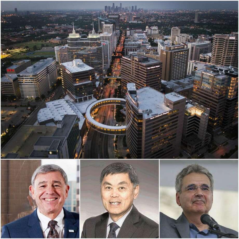 From left: St. Luke's Michael Covert, Memorial Hermann's Benjamin Chu, MD Anderson's Ronald DePinho, are all gone. Photo: Houston Chronicle File Photos