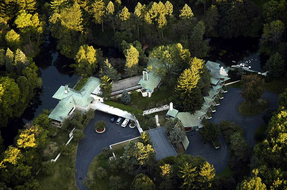 Aerial photo of the Alden B. Dow Home and Studio and Grounds. Photo: Alden B. Dow Home And Studio