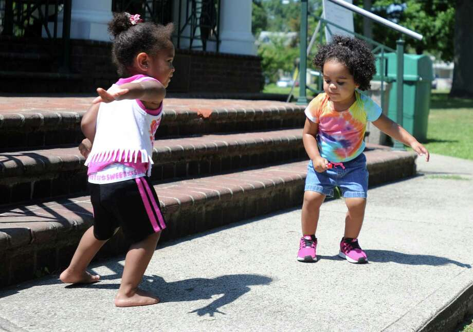 Children celebrating National Dance Day on Paradise Green in Stratford, Conn. in 2015. This year's Dance Day will take place on July 29. Photo: Autumn Driscoll / Hearst Connecticut Media / Connecticut Post