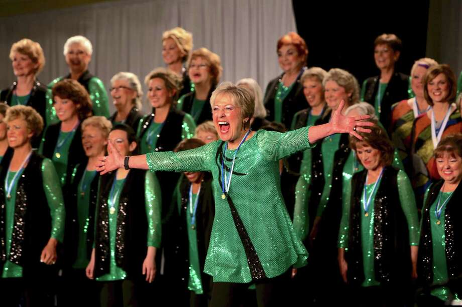 The Woodlands Show Chorus with Master Director, Betty Clipman, of April Sound.