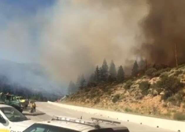 Wildfire again prompts I-80 closure east of Truckee