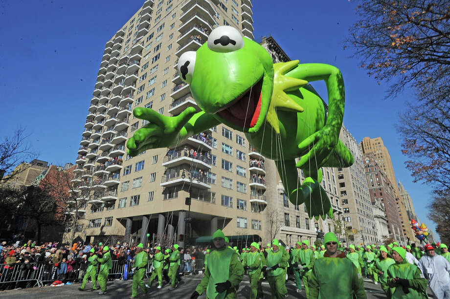 2011: Kermit The Frog Balloon seen at the Macy's Thanksgiving Day Parade in the streets of Manhattan  Photo: Bobby Bank/WireImage
