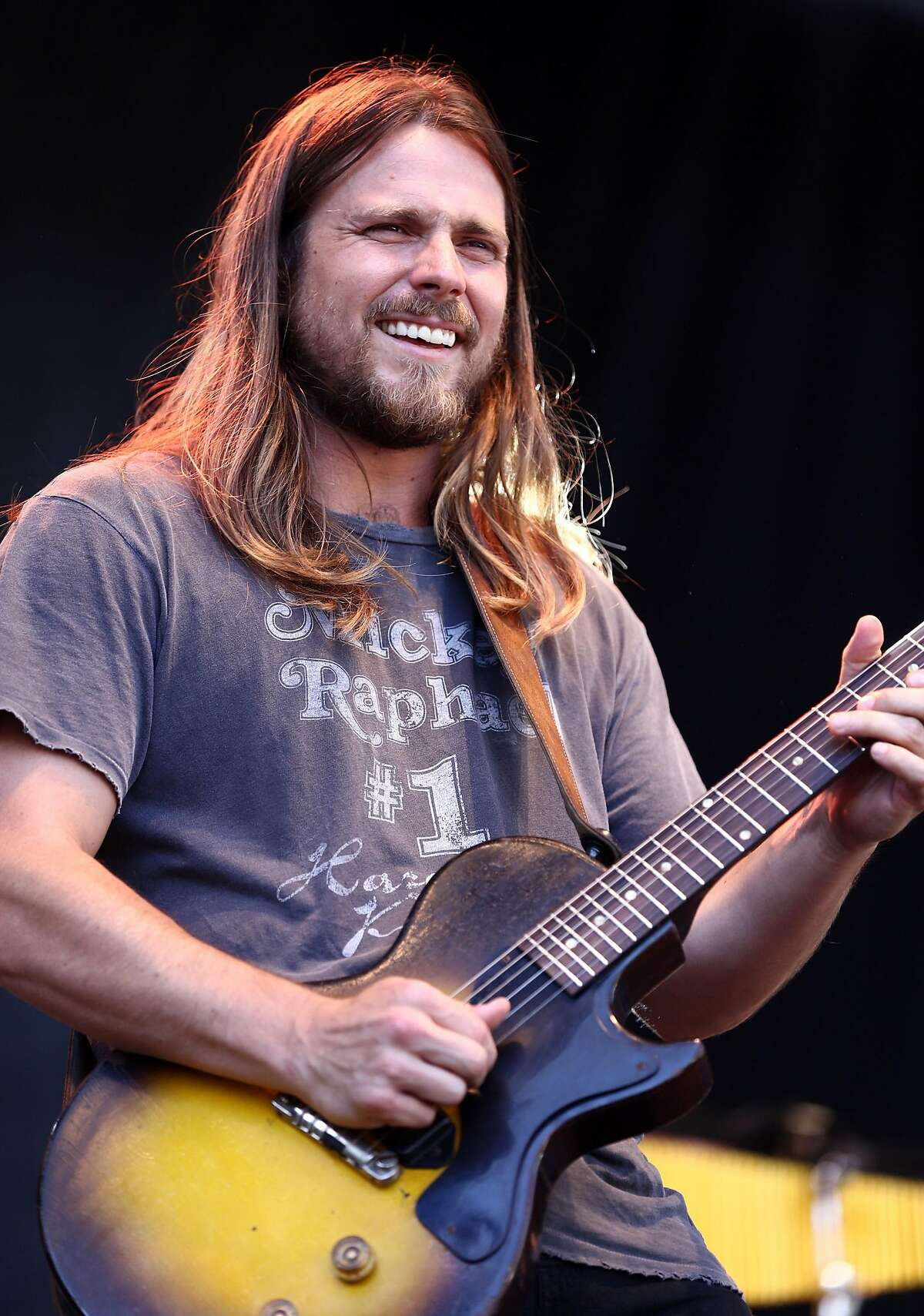 PASADENA, CA - JUNE 25: Musician Lukas Nelson of musical group Lukas Nelson & Promise of the Real performs on the Sycamore stage during Arroyo Seco Weekend at the Brookside Golf Course at on June 25, 2017 in Pasadena, California. (Photo by Rich Fury/Getty Images for Arroyo Seco Weekend)
