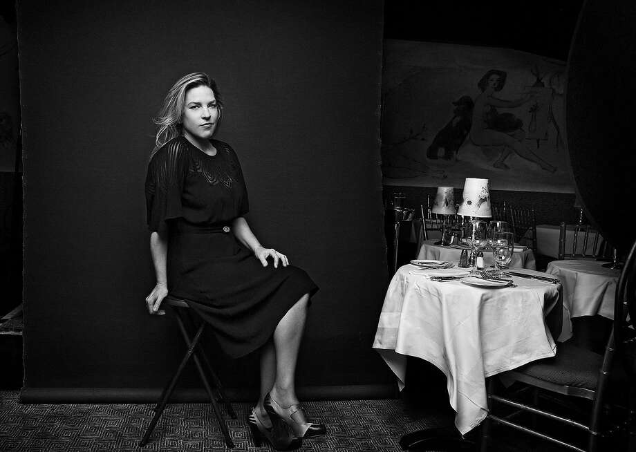 Canadian jazz singer and pianist Diana Krall, pictured at the Cafe Carlyle in New York, has four tour dates in the Bay Area this week. Photo: JESSE DITTMAR, NYT