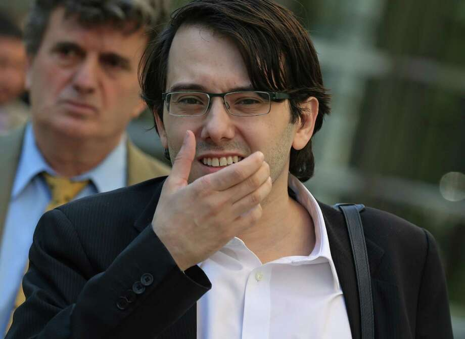 Martin Shkreli, former chief executive officer of Turing Pharmaceuticals AG, exits federal court in New York. He is on trial for charges of hiking up the price of a life-saving drug. Photo: Peter Foley /Bloomberg / © 2017 Bloomberg Finance LP