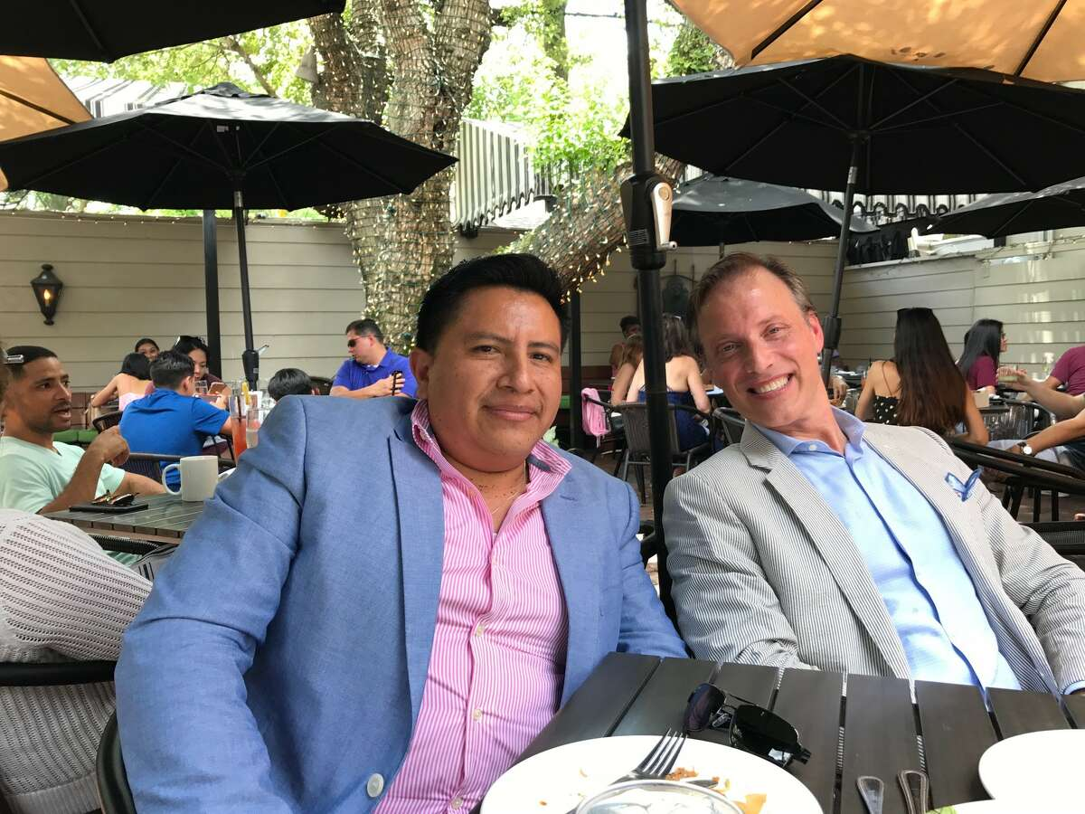 Manual Pucha, left, is leaving his post of executive chef at La Table in the Galleria area to open his own restaurant in the Heights. Maison Pucha Bistro, 1001 Studewood, is expected to open in the fall. Restaurateur/sommelier Shepard Ross, right, is consulting on the project.