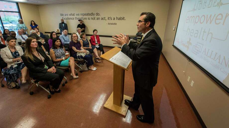 Michael Saccocio, CEO of City Mission of Schenectady talks about the great success of the Empower Health program as had Tuesday July 11, 2017 at the City Mission Training Center in Schenectady, N.Y.  (Skip Dickstein/Times Union) Photo: SKIP DICKSTEIN, Albany Times Union / 40041026A