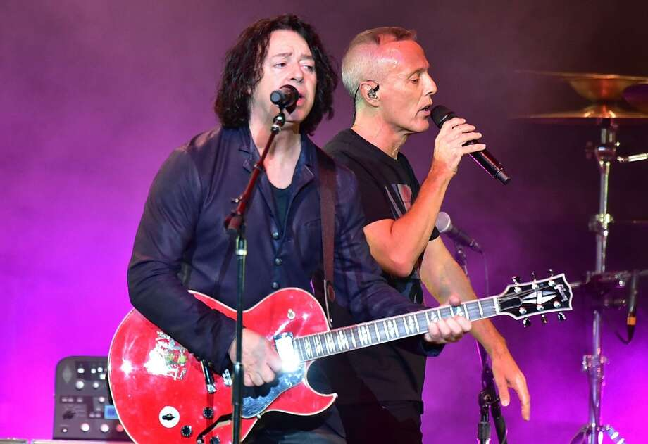 A reunited Tears for Fears — Roland Orzabal (left) and Curt Smith — are on the road with Daryl Hall & John Oats Photo: Brian Killian /Getty Images / 2017 Brian Killian