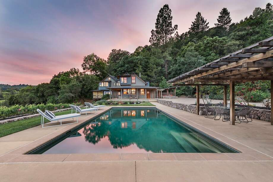 1871 Mount Veeder Road in Napa is a four-bedroom estate situated amid roughly 23 acres of Wine Country. Photo: Paul Rollins