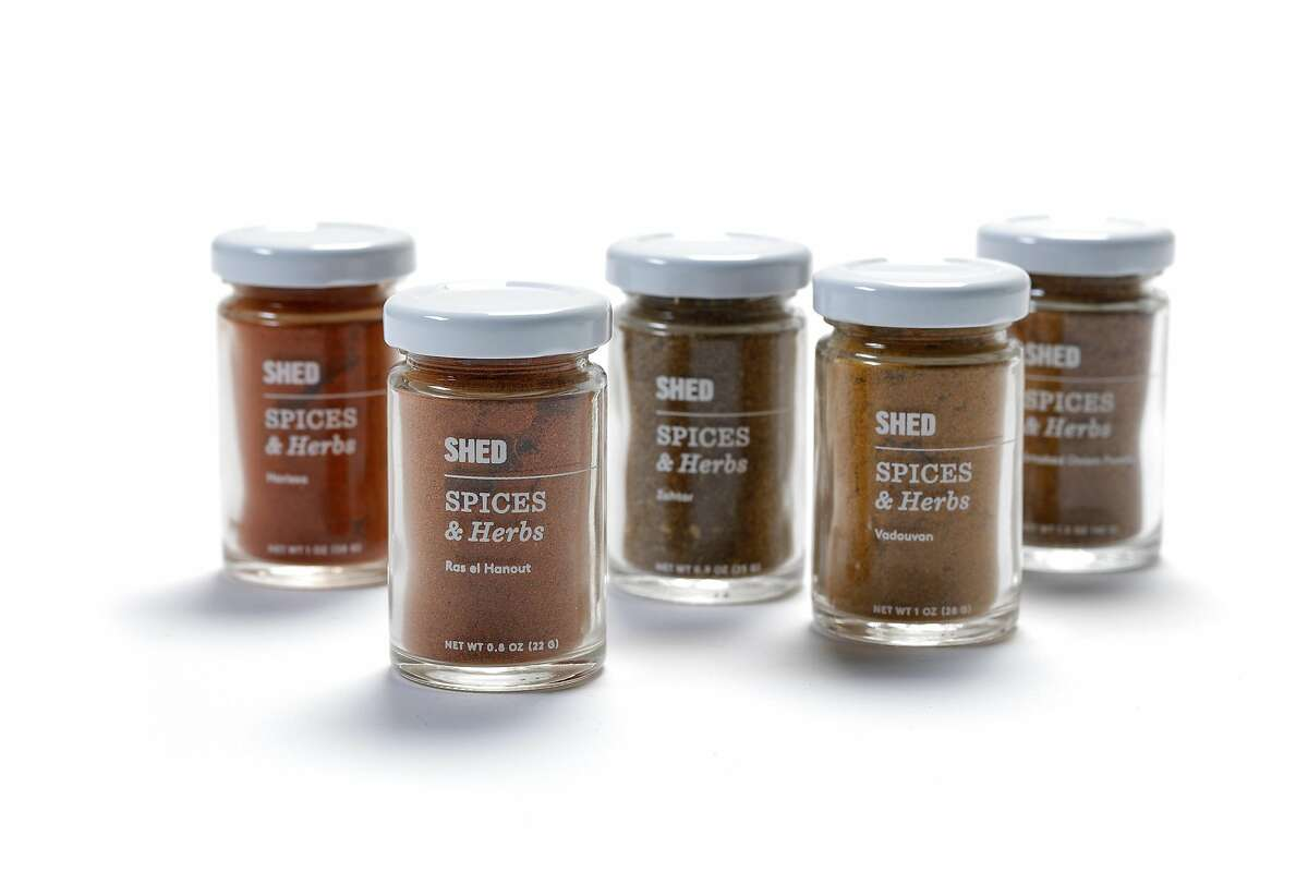Must have pantry items from Shed chef Perry Hoffman include SHED Arabic Spice Collection seen on Tuesday, July 11, 2017 in San Francisco, Calif.
