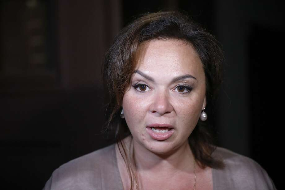 Kremlin-linked lawyer Natalia Veselnitskaya speaks to journalists in Moscow, Russia, Tuesday, July 11, 2017.  Veselnitskaya admits she met with Donald Trump Jr. during the 2016 presidential campaign, but insists that she had no compromising information on Hillary Clinton to offer in contrast to what the email exchange released by Trump's eldest son suggested. (AP Photo/Alexander Zemlianichenko) Photo: Alexander Zemlianichenko, Associated Press