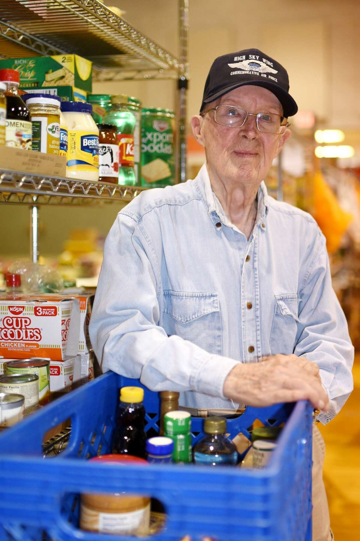 H.A. Tuck photographed while loading food to donate on July 11, 2017 at First Christian Church. James Durbin/Reporter-Telegram