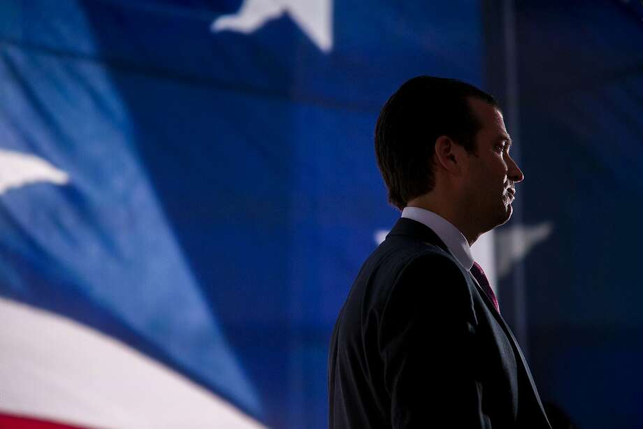 "Within minutes of receiving an email in June 2016, relating a senior Russian government official's promise of dirt on Hillary Clinton, Donald Trump Jr. replied ""If it's what you say I love it especially later in the summer,"" the New York Times reported on July 11, 2017. Trump Jr. as he spoke to reporters during the Republican Convention July 19, 2016.  (Sam Hodgson/The New York Times) Photo: SAM HODGSON, NYT"