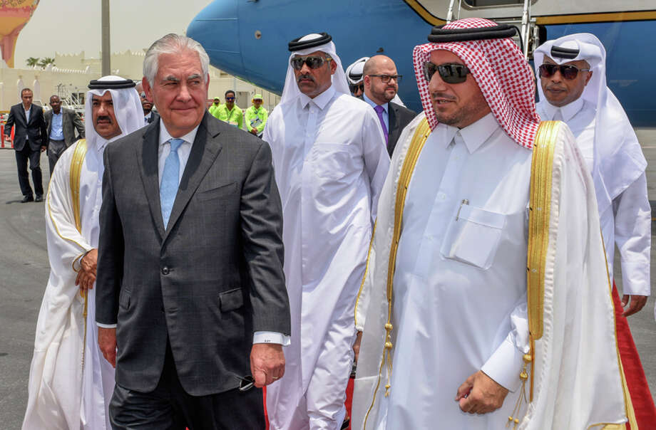 Secretary of State Rex Tillerson arrives in Doha, Qatar, to mediate a dispute between the energy-rich country and its neighbors. Photo: HOGP / Qatar News Agency