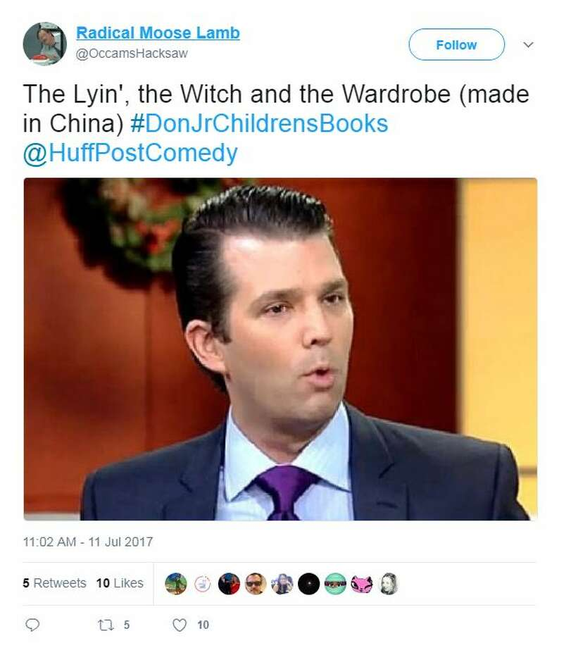 The Lyin', the Witch and the Wardrobe (made in China) #DonJrChildrensBooks @HuffPostComedy Photo: Twitter Screen Shots