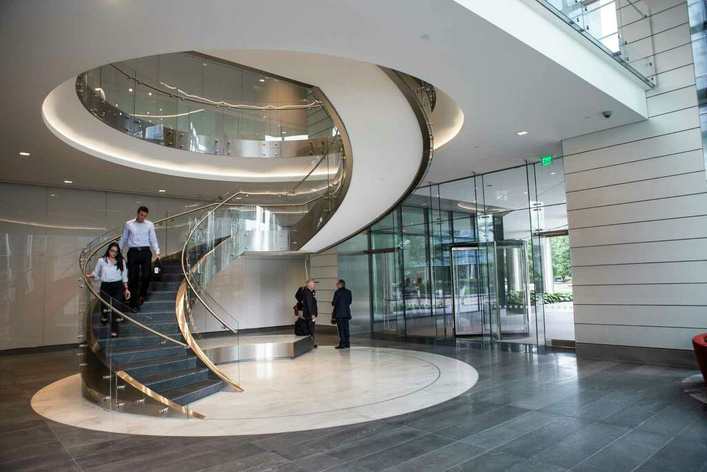 A Spiral Staircase Is One Of The Features Of The Lobby At The New BHP  Billiton