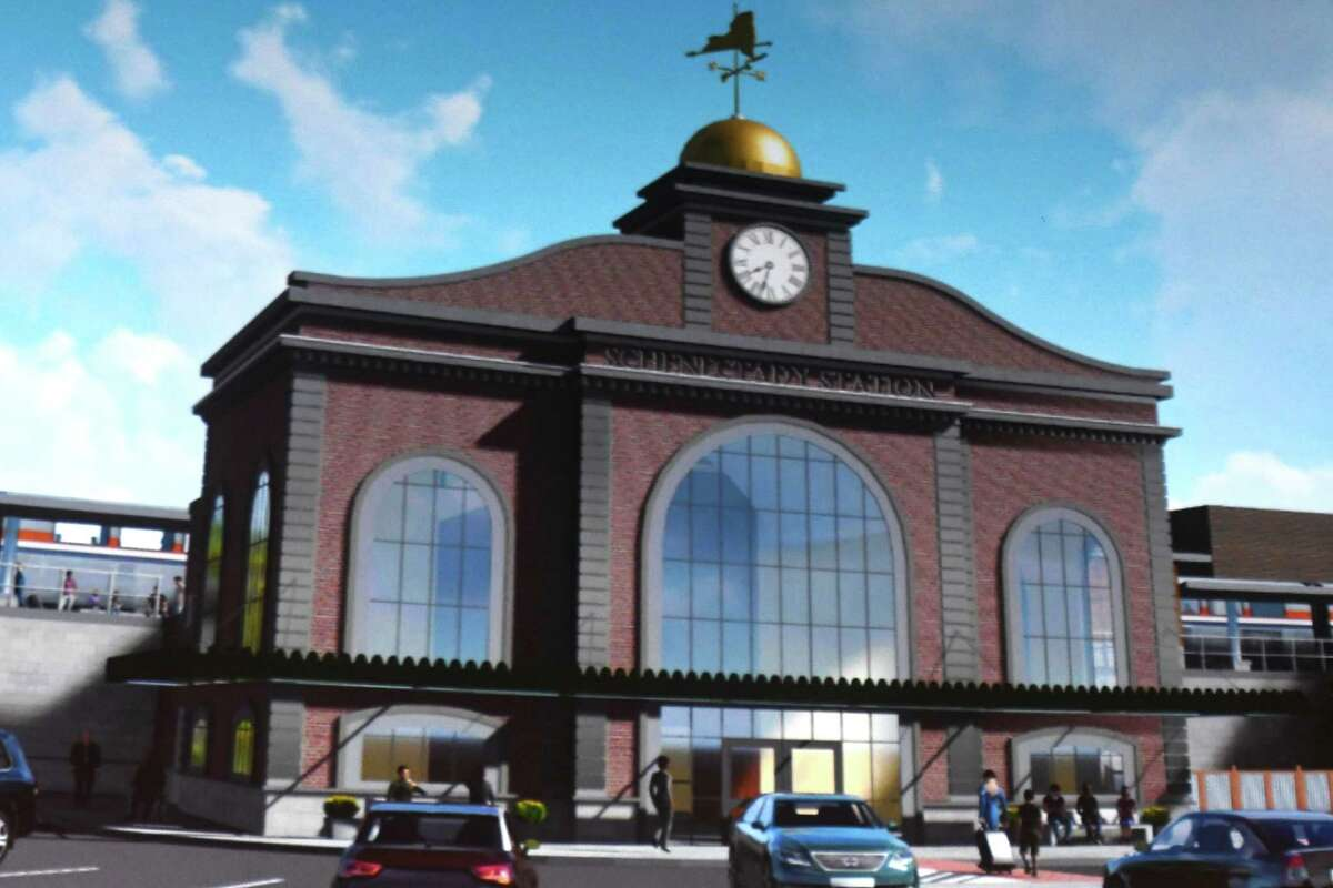 Gov. Andrew Cuomo holds a press conference and shows renderings of the new Schenectady train station at Proctors Theater on Tuesday, July 11, 2017 in Schenectady, N.Y. The governor also talked about other plans such as the Empire State Trail that will build up the economy in New York State. (Lori Van Buren / Times Union)